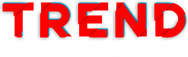 trend logo red